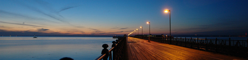 Ryde Pier late evening © Claire Kay